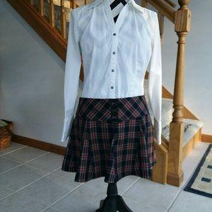 Plaid school girl mini